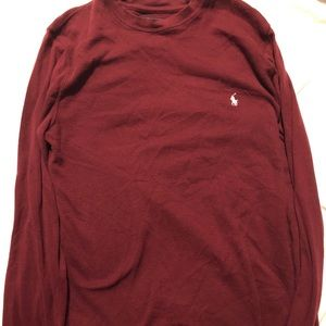 Red Polo Long Sleeve